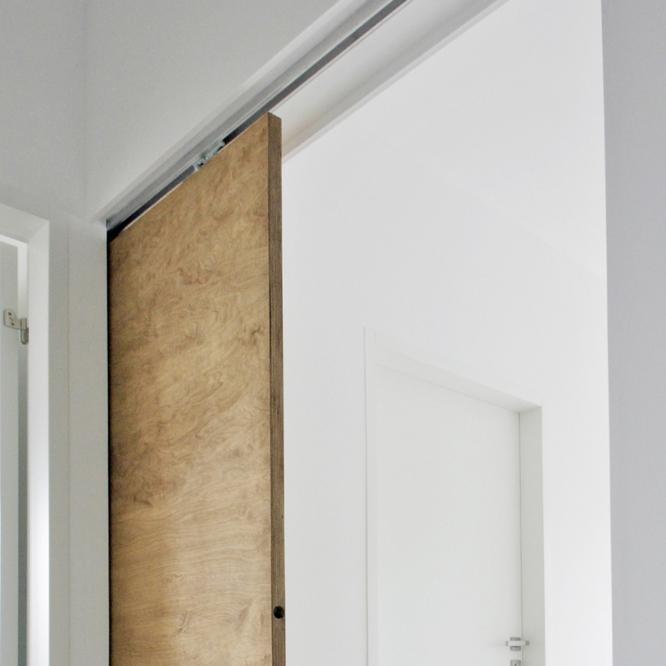 Puerta corredera con casoneto puerta cristal templado - Puertas correderas empotradas ...